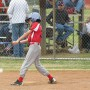 child playing softball