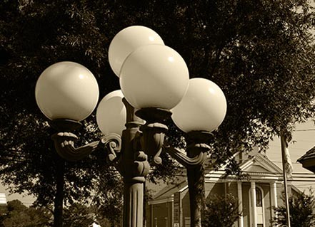vintage street lights
