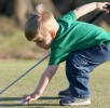 baby in golf course
